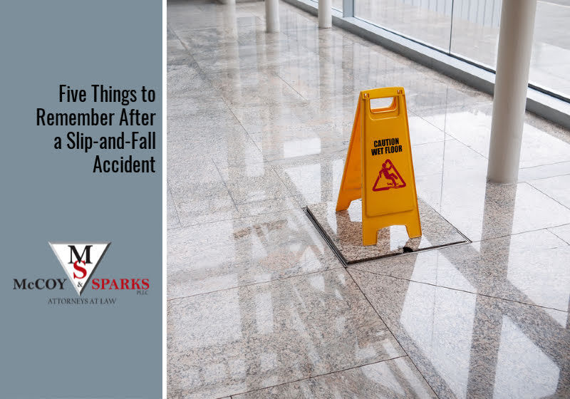 Five Things to Remember After a Slip-and-Fall Accident