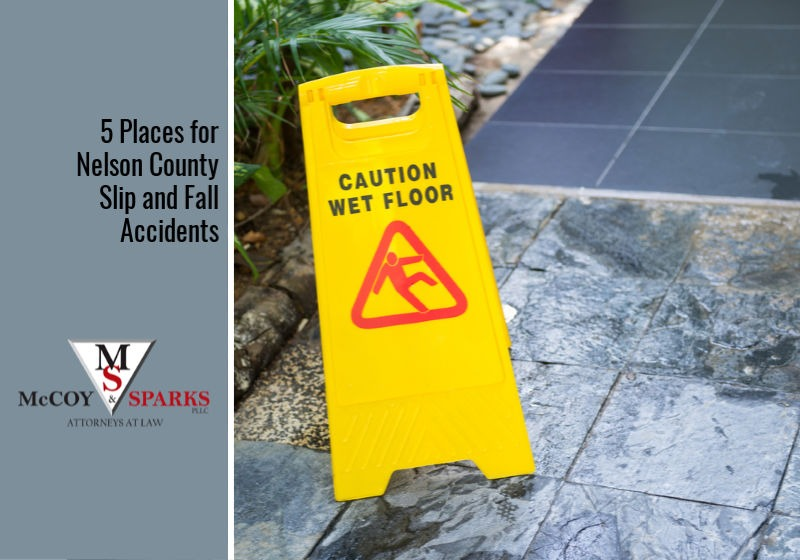 5 Places for Nelson County Slip and Fall Accidents