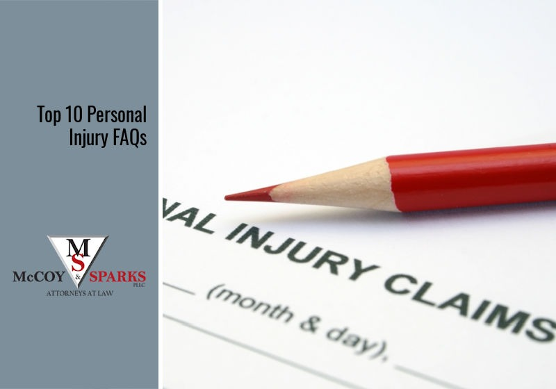 Top 10 Personal Injury FAQs