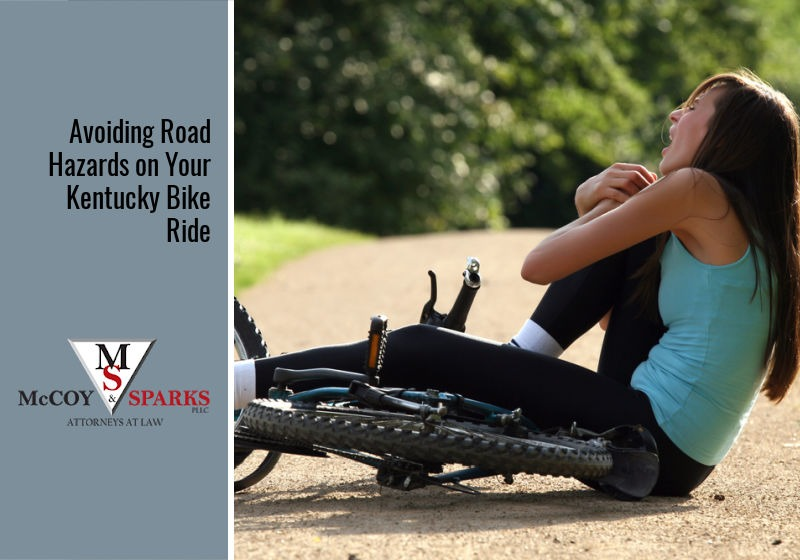 avoiding road hazards on bicycle